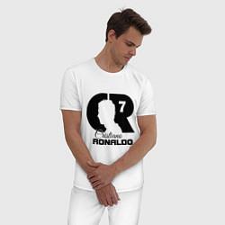 Пижама хлопковая мужская CR Ronaldo 07 цвета белый — фото 2