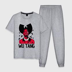 Пижама хлопковая мужская Wu-Tang Insects цвета меланж — фото 1