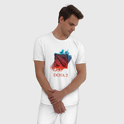 Пижама хлопковая мужская Dota 2 Shadows цвета белый — фото 2