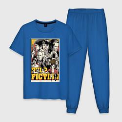 Пижама хлопковая мужская Pulp Fiction Stories цвета синий — фото 1