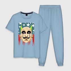 Пижама хлопковая мужская The Prodigy: Dali USA цвета мягкое небо — фото 1