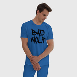 Пижама хлопковая мужская Bad Wolf цвета синий — фото 2