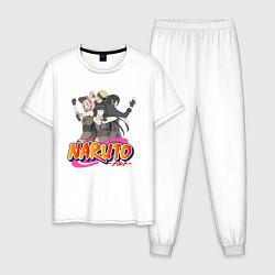 Пижама хлопковая мужская Team 7 and Hinata цвета белый — фото 1
