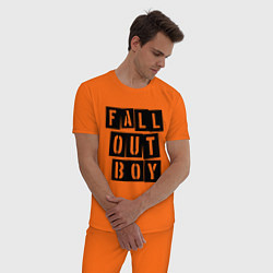 Пижама хлопковая мужская Fall Out Boy: Words цвета оранжевый — фото 2