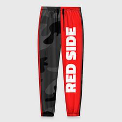 Брюки на резинке мужские Military Red Side цвета 3D-принт — фото 1