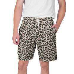 Шорты на шнурке мужские Шкура леопарда цвета 3D — фото 1