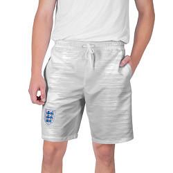 Мужские 3D-шорты на шнурке с принтом Сборная Англии: Гостевая ЧМ-2018, цвет: 3D, артикул: 10151629704144 — фото 1