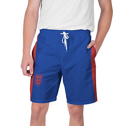 Шорты на шнурке мужские Выездные Шорты Сборной Англии цвета 3D-принт — фото 1