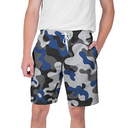 Шорты на шнурке мужские Зимний камуфляж цвета 3D — фото 1