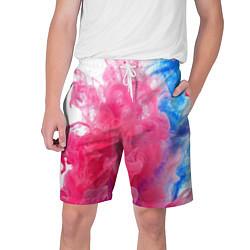 Шорты на шнурке мужские Взрыв красок цвета 3D-принт — фото 1