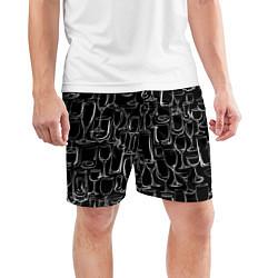 Шорты спортивные мужские Стеклянный бармен цвета 3D — фото 2