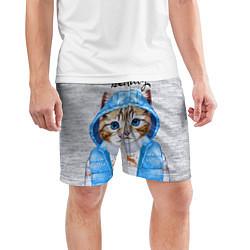 Шорты спортивные мужские Модная киска цвета 3D — фото 2