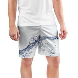 Шорты спортивные мужские Белая вода цвета 3D — фото 2