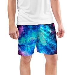 Шорты спортивные мужские Голубая вселенная цвета 3D — фото 2