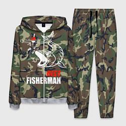 Костюм мужской Best fisherman цвета 3D-меланж — фото 1