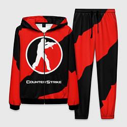 Костюм мужской CS:GO Red Style цвета 3D-черный — фото 1