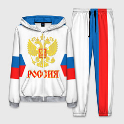 Костюм мужской Сборная РФ: гостевая форма цвета 3D-меланж — фото 1