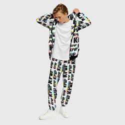 Костюм мужской K-pop Pattern цвета 3D-черный — фото 2