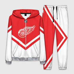 Костюм мужской NHL: Detroit Red Wings цвета 3D-меланж — фото 1