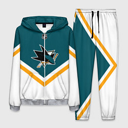 Костюм мужской NHL: San Jose Sharks цвета 3D-меланж — фото 1