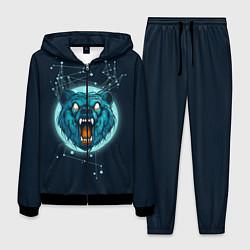 Костюм мужской Космический медведь цвета 3D-черный — фото 1