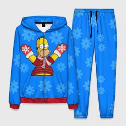 Костюм мужской Новогодний Гомер цвета 3D-красный — фото 1