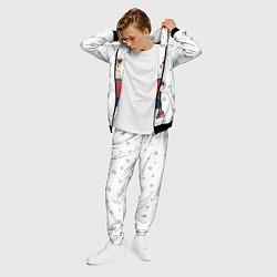 Костюм мужской Лыжник цвета 3D-черный — фото 2