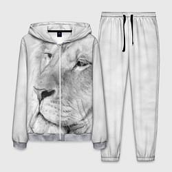 Костюм мужской Мудрый лев цвета 3D-меланж — фото 1