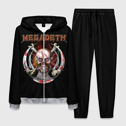 Костюм мужской Megadeth: Skull in chains цвета 3D-меланж — фото 1