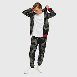 Костюм мужской Камуфляж пиксельный: черный/серый цвета 3D-красный — фото 2