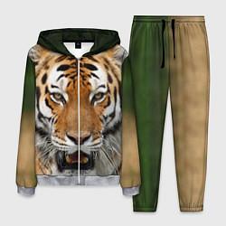Костюм мужской Рык тигра цвета 3D-меланж — фото 1