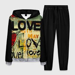 Костюм мужской Love letter цвета 3D-меланж — фото 1