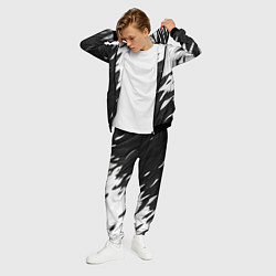 Костюм мужской Black & white цвета 3D-черный — фото 2