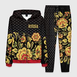Костюм мужской Russia: black edition цвета 3D-красный — фото 1