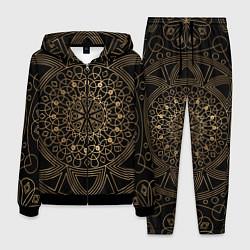 Костюм мужской Золотая мандала цвета 3D-черный — фото 1