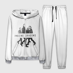 Костюм мужской Imagine Dragons: White цвета 3D-меланж — фото 1