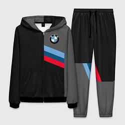 Костюм мужской BMW M: Brand Tricolor цвета 3D-черный — фото 1