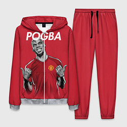 Костюм мужской FC MU: Pogba цвета 3D-меланж — фото 1