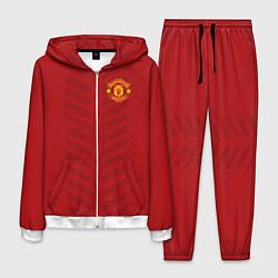Костюм мужской Manchester United: Red Lines цвета 3D-белый — фото 1