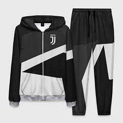 Костюм мужской FC Juventus: Sport Geometry цвета 3D-меланж — фото 1