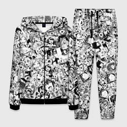 Костюм мужской Ahegao: Black & White цвета 3D-черный — фото 1