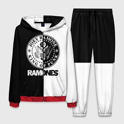 Костюм мужской Ramones B&W цвета 3D-красный — фото 1