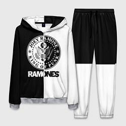 Костюм мужской Ramones B&W цвета 3D-меланж — фото 1