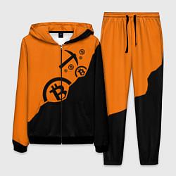 Костюм мужской Bitcoin Mining цвета 3D-черный — фото 1