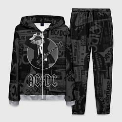 Костюм мужской AC/DC: Black Devil цвета 3D-меланж — фото 1