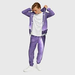 Костюм мужской Pantone: Ultra Violet Space цвета 3D-меланж — фото 2