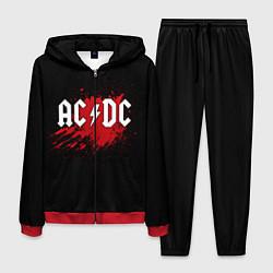 Костюм мужской AC/DC: Red Spot цвета 3D-красный — фото 1