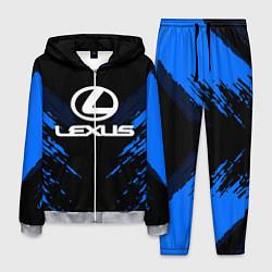 Костюм мужской Lexus: Blue Anger цвета 3D-меланж — фото 1