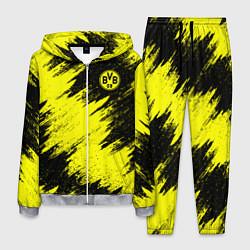Костюм мужской FC Borussia Dortmund цвета 3D-меланж — фото 1