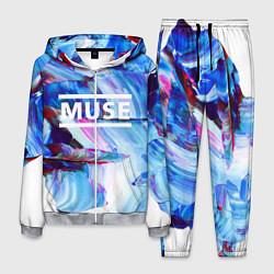 Костюм мужской MUSE: Blue Colours цвета 3D-меланж — фото 1